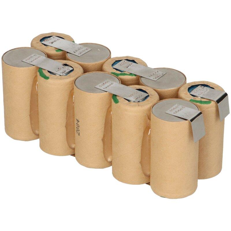 Markenzellen Tauschpack für Festool Akku BPS 12 c 12 V  NiMh mit  2,4 Ah