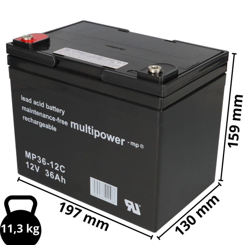 2 x 12V 50Ah AGM Akku Ersatz-Akkus Batterien Invacare Elektro-Rollstuhl Bora