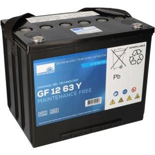 63 Ah Sonnenschein Akku//Batterie 12V Columbus RA 35 B 10 Gel, wartungsfrei