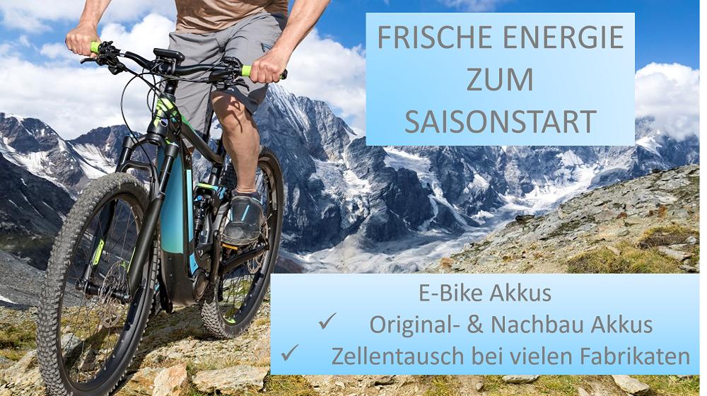 E-Bike Ersatzakkus und Zellentausch