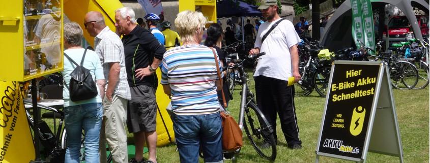 Angebot für Schnelltest für Fahrrad Akkus beim Sattelfest