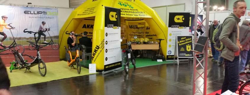 Akkuman auf der Fahrrad Essen - Akkureparatur für E-Bikes